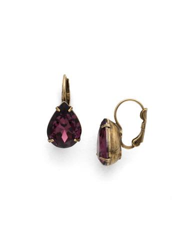 Timeless Teardrop Earring in Antique Gold-tone Jewel Tone