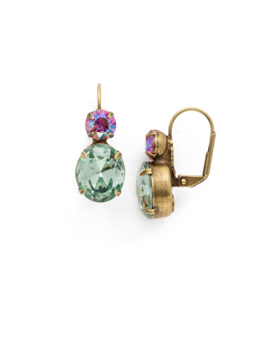 Darling Duo Earring in Antique Gold-tone Happy Birthday