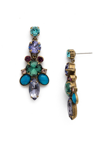 Holiday 2017 One-of-a-Kind Earring in Antique Gold-tone Jewel Tone
