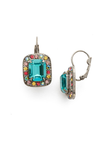 Opulent Octagon Earring in Antique Silver-tone Vivid Horizons