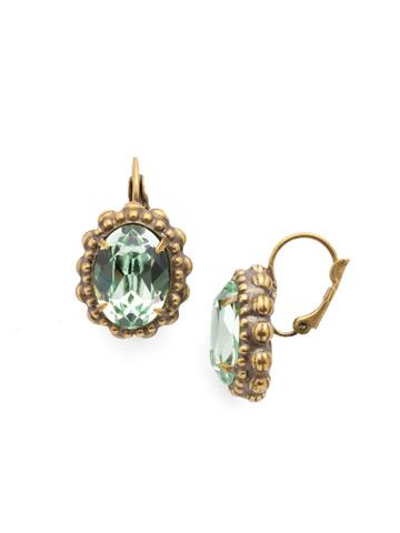 Camellia Earring in Antique Gold-tone Bohemian Bright