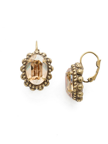Camellia Earring in Antique Gold-tone Neutral Territory