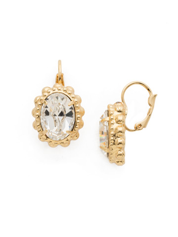 Camellia Earring in Bright Gold-tone Crystal