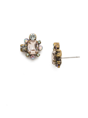 Verbena Earring in Antique Gold-tone Washed Waterfront