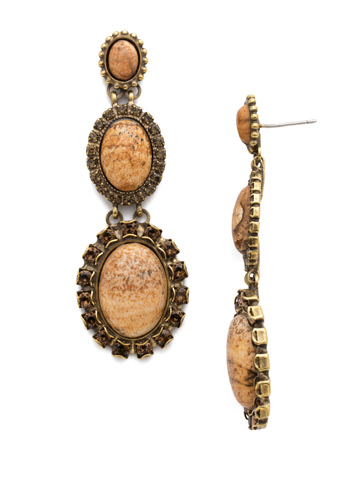 Piera Statement Post Earring in Antique Gold-tone Driftwood