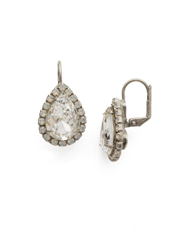 Reed Earring in Antique Silver-tone White Bridal