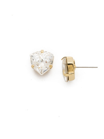 Perfectly Pretty Earring in Bright Gold-tone Crystal