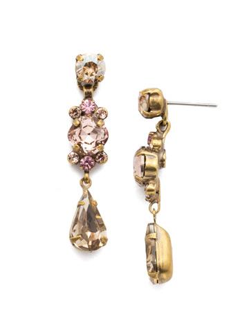 Saffron Post Drop Earring in Antique Gold-tone Beach Comber