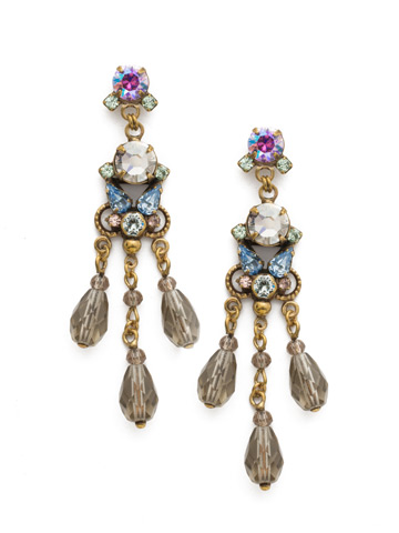 Arden Earring in Antique Gold-tone Washed Waterfront