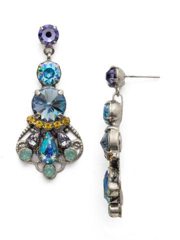 Alstromeria Earring in Antique Silver-tone Moonlit Shores