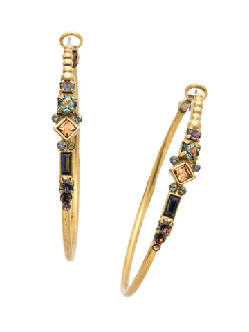 Briar Earring in Antique Gold-tone Volcano