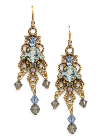 Willow Earring in Antique Gold-tone Washed Waterfront