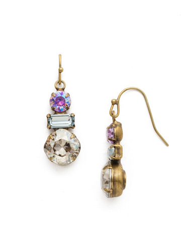 Dianella Earring in Antique Gold-tone Washed Waterfront