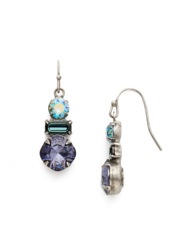 Dianella Earring in Antique Silver-tone Moonlit Shores