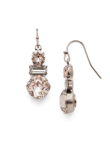 Dianella Earring in Antique Silver-tone Soft Petal