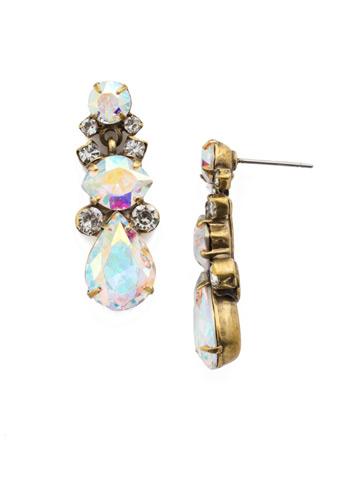 Iberis Earring in Antique Gold-tone Snowflake