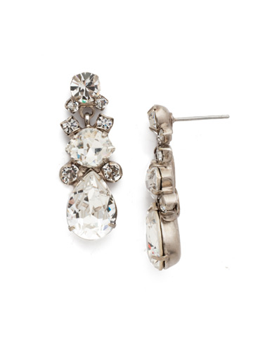 Iberis Earring in Antique Silver-tone Crystal