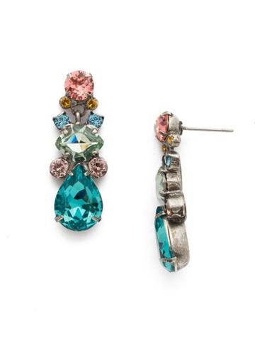 Iberis Earring in Antique Silver-tone Vivid Horizons