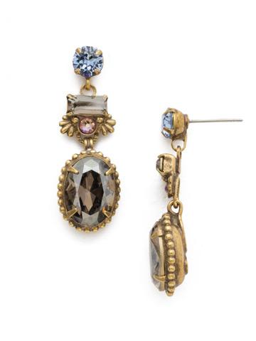 Bergenia Earring in Antique Gold-tone Washed Waterfront
