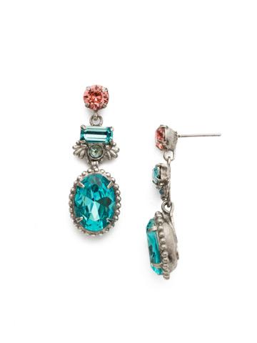 Bergenia Earring in Antique Silver-tone Vivid Horizons