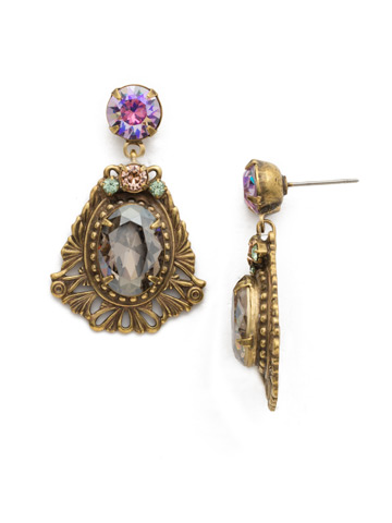 Aconitum Earring in Antique Gold-tone Washed Waterfront