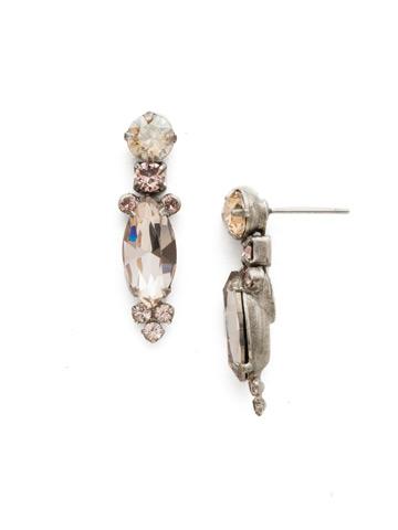 Lantana Earring in Antique Silver-tone Satin Blush