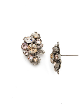 Linden Earring in Antique Silver-tone Satin Blush