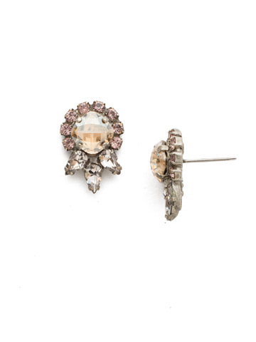 Nepeta Earring in Antique Silver-tone Satin Blush