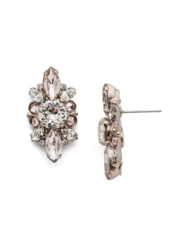 Aubretia Earring in Antique Silver-tone Soft Petal