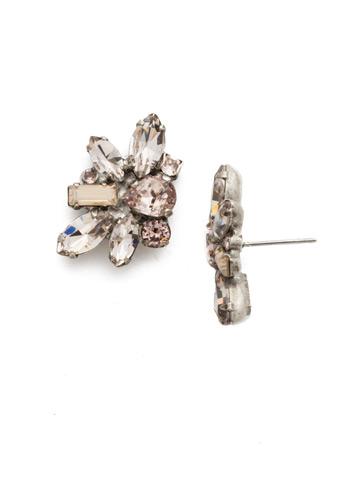 Muscari Earring in Antique Silver-tone Satin Blush