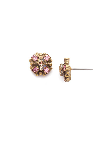 Posey Stud Earring in Antique Gold-tone Beach Comber