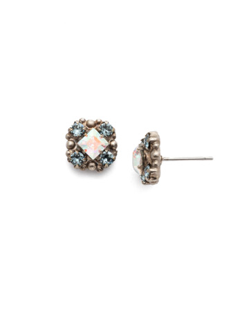 Posey Stud Earring in Antique Silver-tone Stargazer