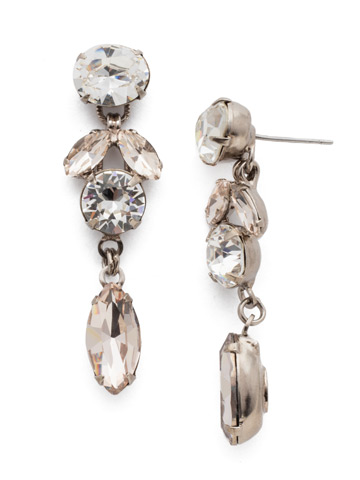 Sparkling Siren Earring in Antique Silver-tone Soft Petal