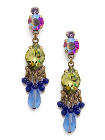 Helenium Earrings in Antique Gold-tone Wildflower
