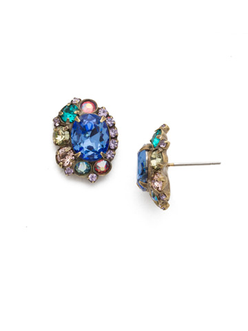 Clover Earrings in Antique Gold-tone Wildflower