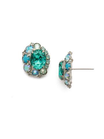 Clover Earrings in Antique Silver-tone Sweet Mint