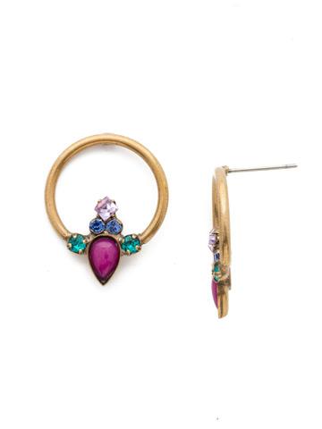 Hazel Earrings in Antique Gold-tone Wildflower