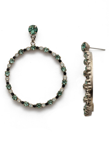 The Sinny Side Set Hoop in Antique Silver-tone Game Day Green