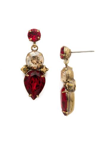 Pear to Dream Earring in Antique Gold-tone Go Garnet