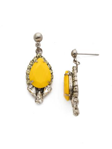 Nerium Earring in Antique Silver-tone Lemon Zest