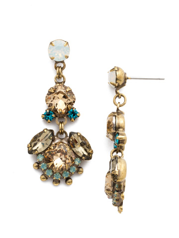 California Poppy Earrings in Antique Gold-tone Driftwood