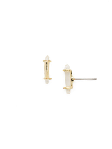 Make a Point Earring in Bright Gold-tone Crystal