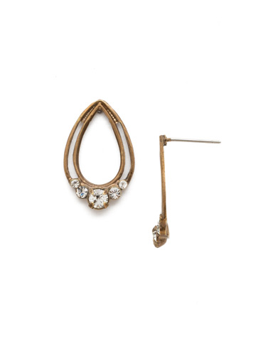 Two Is Better Than One Earring in Antique Gold-tone Crystal