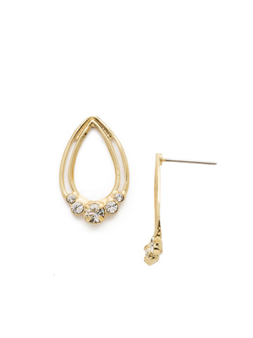 Two Is Better Than One Earring in Bright Gold-tone Crystal