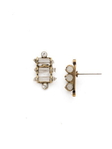 Turning Point Earring in Antique Gold-tone Crystal