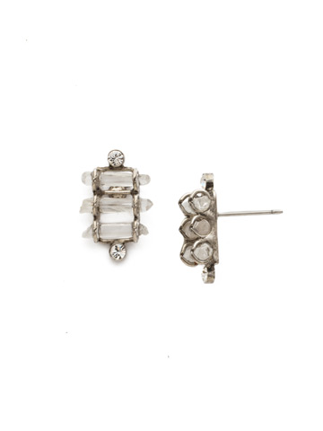 Turning Point Earring in Antique Silver-tone Crystal