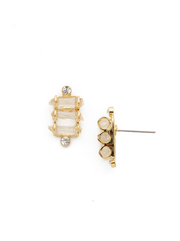 Turning Point Earring in Bright Gold-tone Crystal