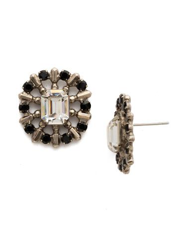 Abelia Earring in Antique Silver-tone Black Tie