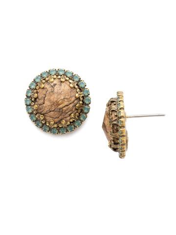 Ballota Earring in Antique Gold-tone Driftwood