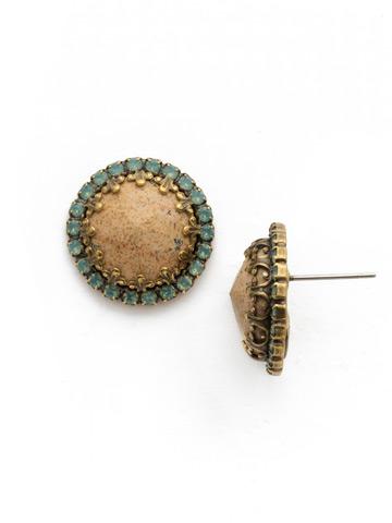 Ballota Earring in Antique Gold-tone Riverstone